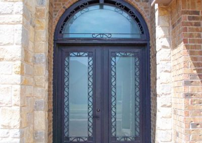 6080 Square Barcelona with Transom Black on Tall Porch