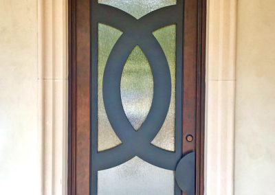 Custom Single Venn Diagram Modern-Looking Door with Black Grill