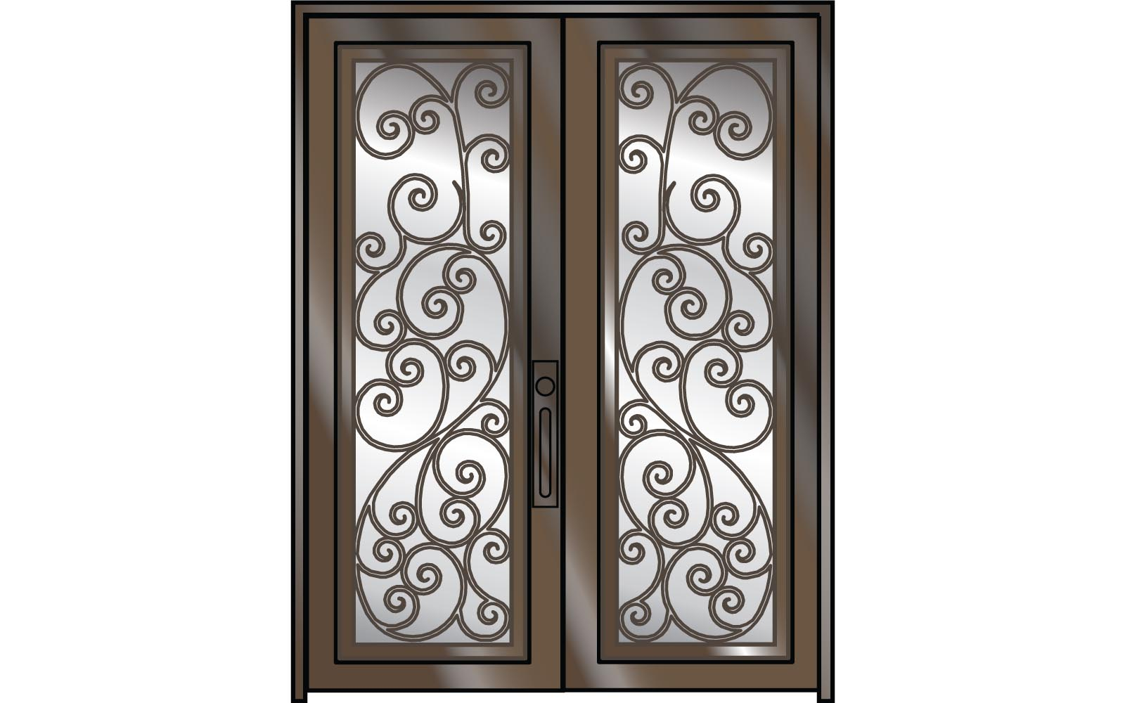 front lite x doors rubbed oil bronze prehung painted with iron unlimited wrought in glass craftsman door classic clear p