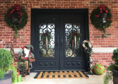 custom-square-double-black-with-christmas-wreaths-2
